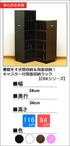 キャスター付両面収納ラック(CRKシリーズ)