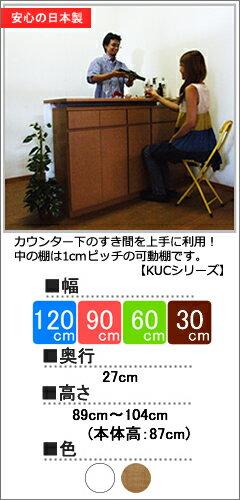 1cmピッチのカウンター下収納(KUCシリーズ)